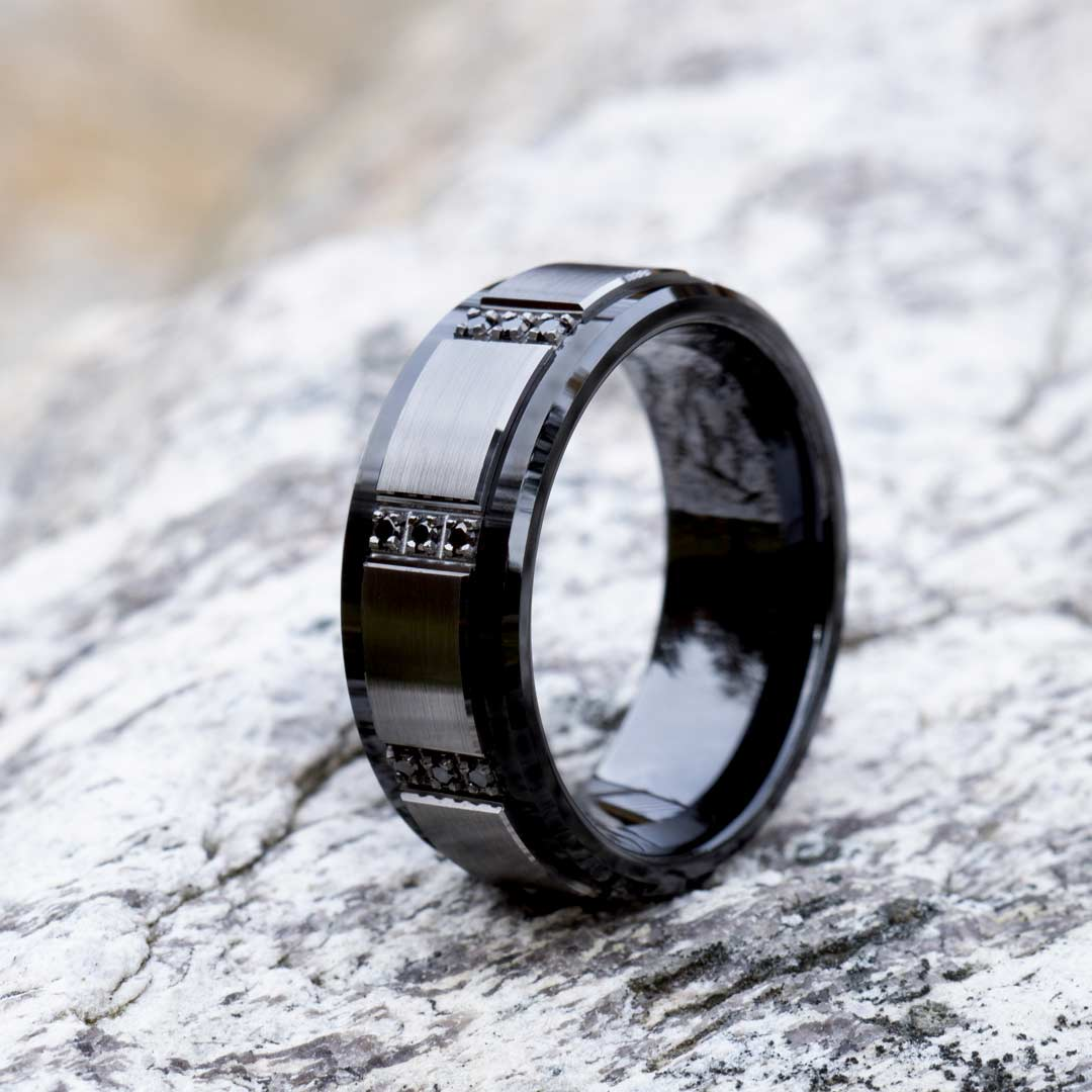 Learn About Black Ceramic Wedding Bands for Men and Why They are Trending
