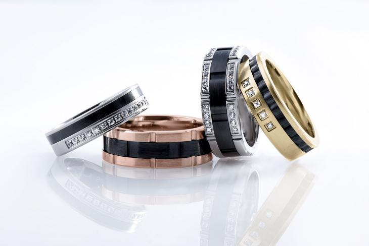 Trending: Inlay Wedding Bands