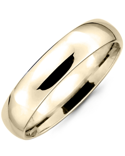 Men's & Women's Dome Yellow Gold Wedding Band