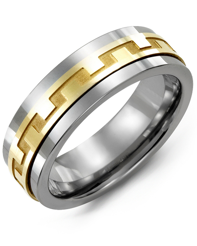 Men's & Women's Cobalt & Yellow Gold Wedding Band from MADANI Rings. Wedding bands, fashion rings, promise rings, made of Tungsten, Ceramic, Cobalt, and Gold. View the collection at madanirings.com