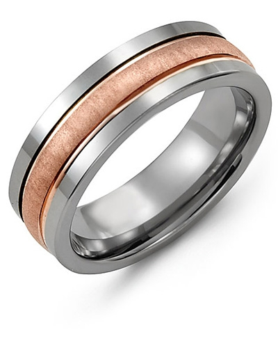 Tungsten & Rose Gold