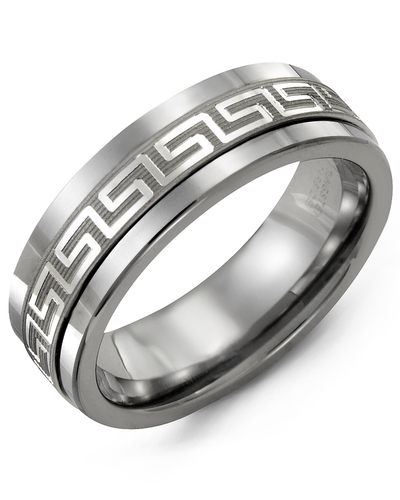 Men's & Women's Cobalt & White Gold Wedding Band