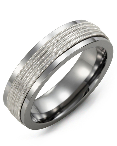 Men's & Women's Tungsten & White Gold Wedding Band