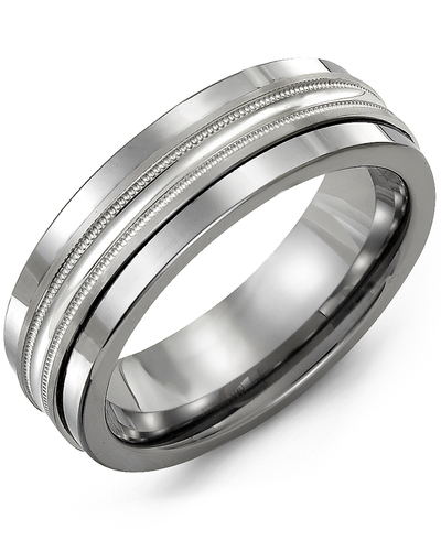 Men's & Women's Cobalt & White Gold Wedding Band from MADANI Rings. Wedding bands, fashion rings, promise rings, made of Tungsten, Ceramic, Cobalt, and Gold. View the collection at madanirings.com