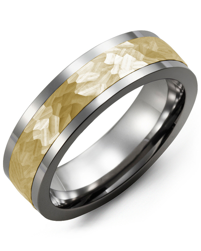 Men's & Women's Cobalt & Yellow Gold Wedding Band