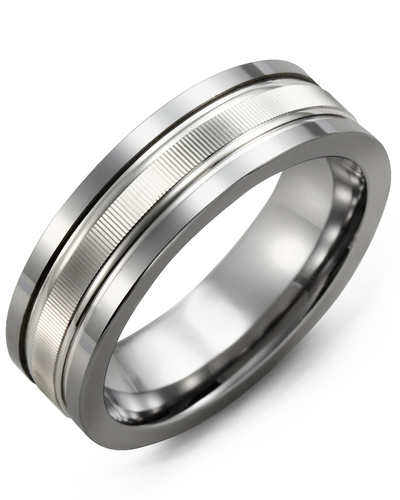 Men's & Women's Tungsten & White Gold Wedding Band from MADANI Rings. Wedding bands, fashion rings, promise rings, made of Tungsten, Ceramic, Cobalt, and Gold. View the collection at madanirings.com