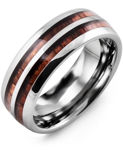 Men's & Women's Tungsten & Koa Wood Wedding Band from MADANI Rings. Wedding bands, fashion rings, promise rings, made of Tungsten, Ceramic, Cobalt, and Gold. View the collection at madanirings.com