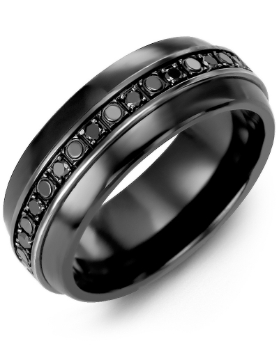 Black Ceramic & Black Gold + 18 Black Diamonds tcw 0.36