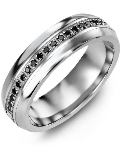 Men's & Women's Eternity Black Diamond Wedding Ring