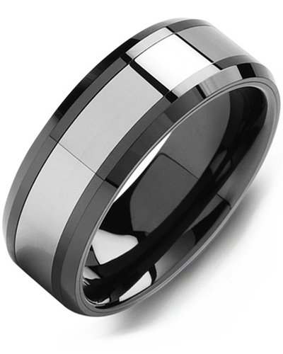 Men's & Women's Black Ceramic & Tungsten Wedding Band from MADANI Rings. Wedding bands, fashion rings, promise rings, made of Tungsten, Ceramic, Cobalt, and Gold. View the collection at madanirings.com