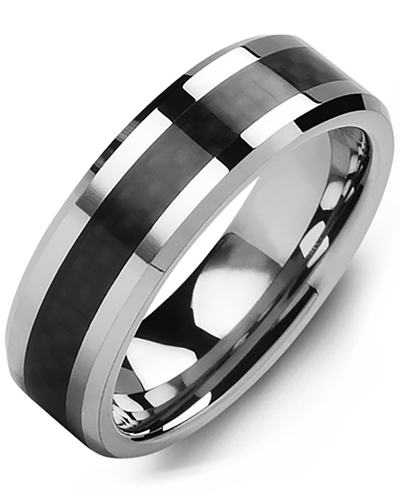 Men's & Women's Tungsten & Carbon Fiber Wedding Band from MADANI Rings. Wedding bands, fashion rings, promise rings, made of Tungsten, Ceramic, Cobalt, and Gold. View the collection at madanirings.com