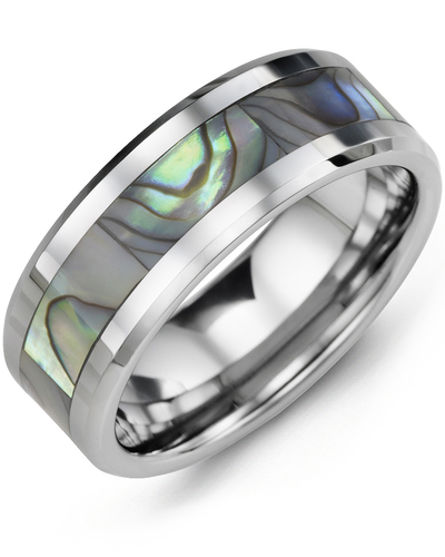 Men's & Women's Tungsten & Shell Wedding Band from MADANI Rings. Wedding bands, fashion rings, promise rings, made of Tungsten, Ceramic, Cobalt, and Gold. View the collection at madanirings.com