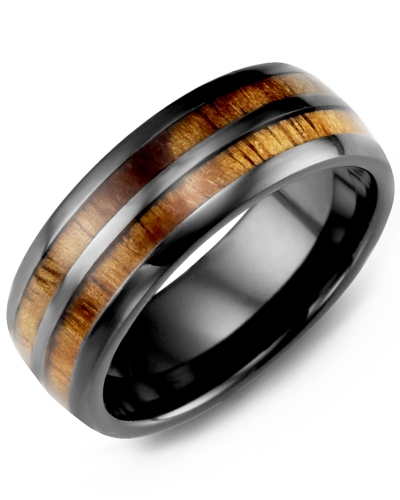 Black Ceramic & Koa Wood