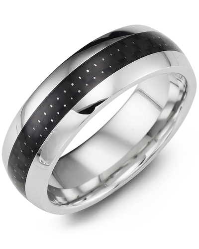 Men's & Women's Cobalt & Carbon Fiber Wedding Band
