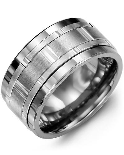 Men's & Women's Tungsten & White Gold Wedding Band