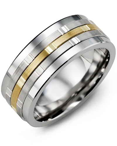 Men's & Women's Cobalt & White/Yellow Gold Wedding Band
