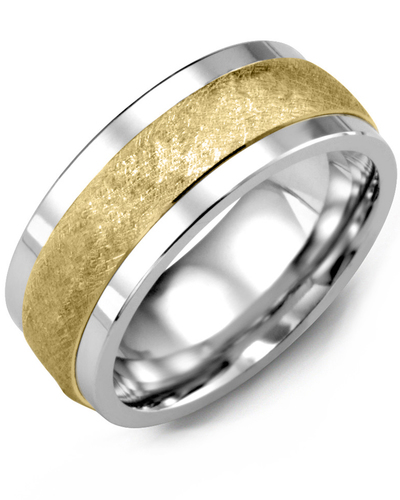 Men's & Women's Tungsten & Yellow Gold Wedding Band from MADANI Rings. Wedding bands, fashion rings, promise rings, made of Tungsten, Ceramic, Cobalt, and Gold. View the collection at madanirings.com