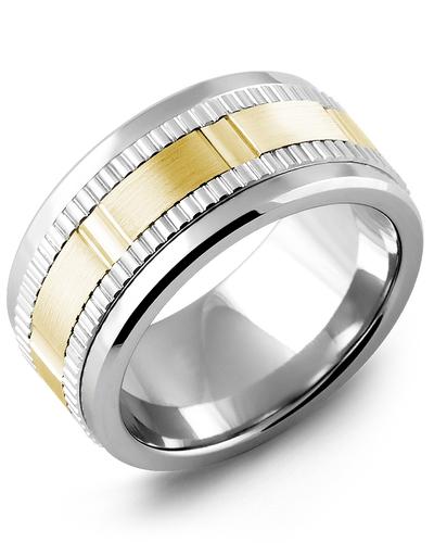 Men's & Women's Tungsten & White/Yellow Gold Wedding Band