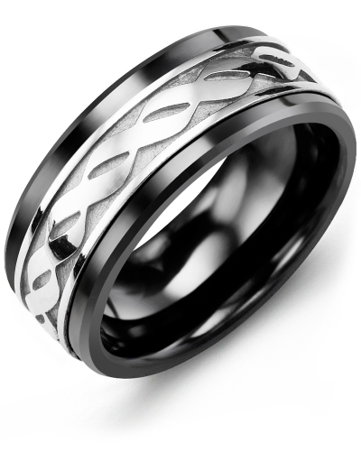 Black Ceramic & White Gold