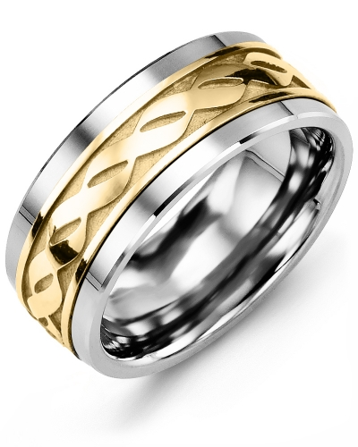 Mens Infinity Design Wedding Band MADANI Rings