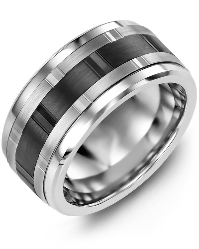 Men's & Women's Cobalt & White/Black Gold Wedding Band