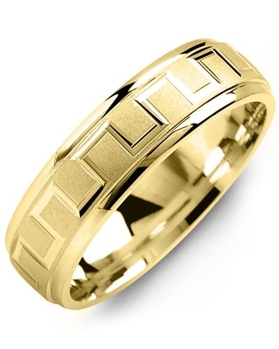 Men's & Women's Yellow Gold Wedding Band 10K 10mm