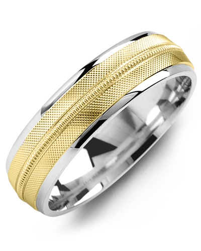Men's & Women's White Gold & Yellow Gold Wedding Band 10K 9mm