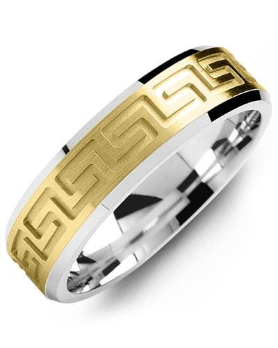 Men's & Women's White Gold & Yellow Gold Wedding Band