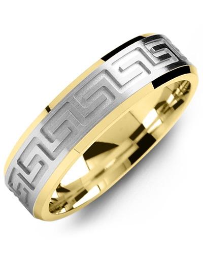 Men's & Women's Yellow Gold & White Gold Wedding Band 10K 5mm