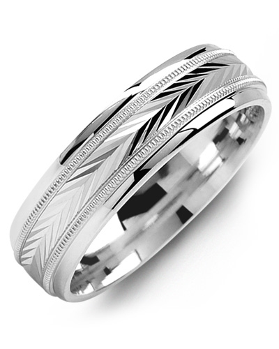 Men's & Women's White Gold & White Gold Wedding Band from MADANI Rings. Wedding bands, fashion rings, promise rings, made of Tungsten, Ceramic, Cobalt, and Gold. View the collection at madanirings.com