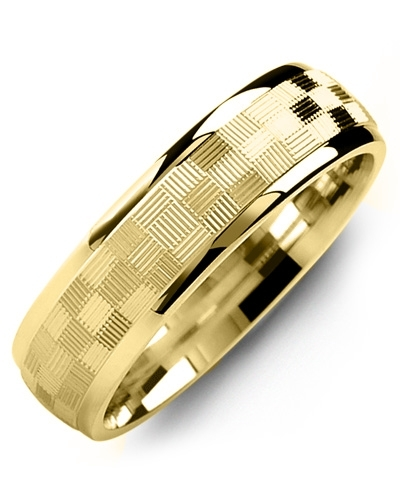 Men's & Women's Yellow Gold & Yellow Gold Wedding Band 10K 9mm