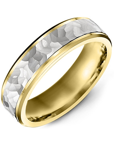 Men's & Women's Yellow Gold & White Gold Wedding Band 10K 9mm