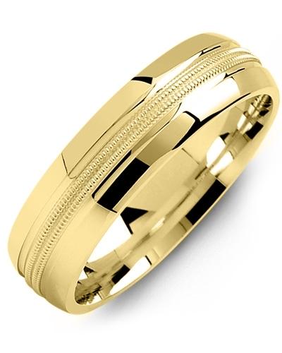 Men's & Women's Yellow Gold Wedding Band 10K 6mm