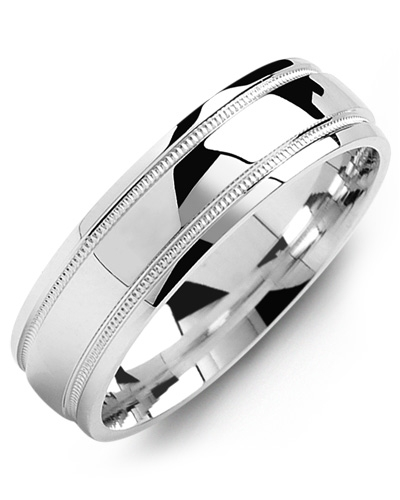 Men's & Women's White Gold & White Gold Wedding Band