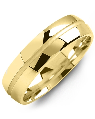 Men's & Women's Yellow Gold Wedding Band 10K 9mm