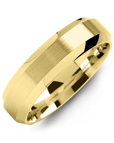 Men's & Women's Yellow Gold Wedding Band 18K 5mm