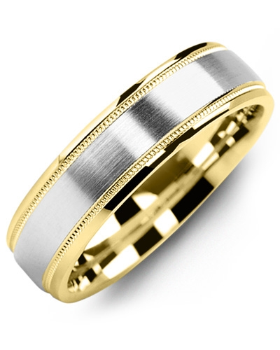 Men's & Women's Yellow Gold & White Gold Wedding Band 10K 9mm