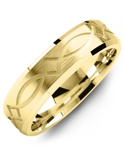 Men's & Women's Yellow Gold Wedding Band 10K 9mm