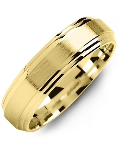 Men's & Women's Yellow Gold Wedding Band 18K 5mm