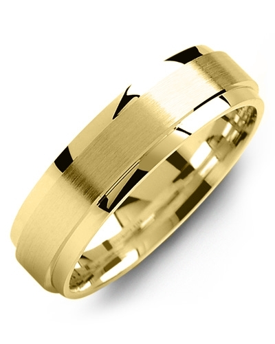 Men's & Women's Yellow Gold & Yellow Gold Wedding Band 10K 5mm