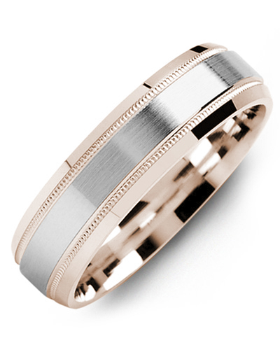 Men's & Women's Rose Gold & White Gold Wedding Band