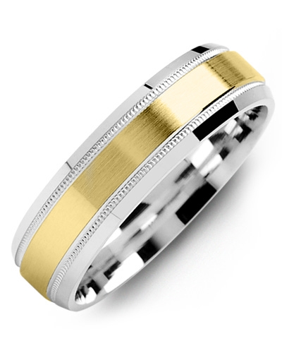 Men's & Women's White Gold & Yellow Gold Wedding Band 10K 5mm