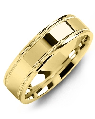 Men's & Women's Yellow Gold & Yellow Gold Wedding Band