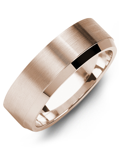 Men's & Women's Rose Gold Wedding Band from MADANI Rings. Wedding bands, fashion rings, promise rings, made of Tungsten, Ceramic, Cobalt, and Gold. View the collection at madanirings.com