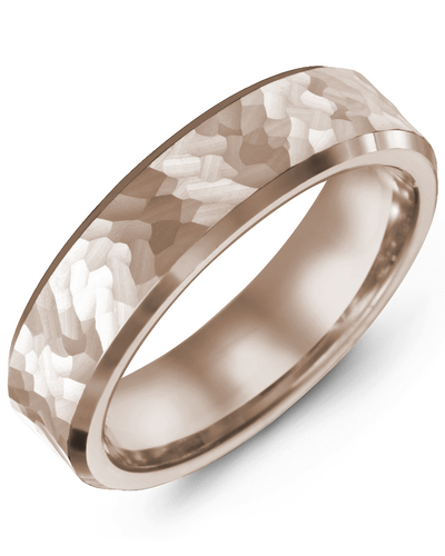 Men's & Women's Rose Gold & Rose Gold Wedding Band from MADANI Rings. Wedding bands, fashion rings, promise rings, made of Tungsten, Ceramic, Cobalt, and Gold. View the collection at madanirings.com