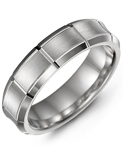 Men's & Women's White Gold Wedding Band 10K 9mm