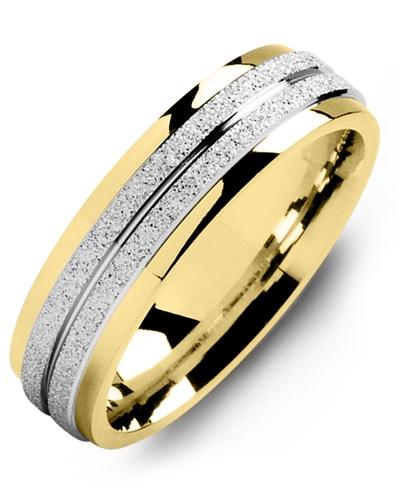 Men's & Women's Yellow Gold & White Gold Wedding Band 10K 6mm