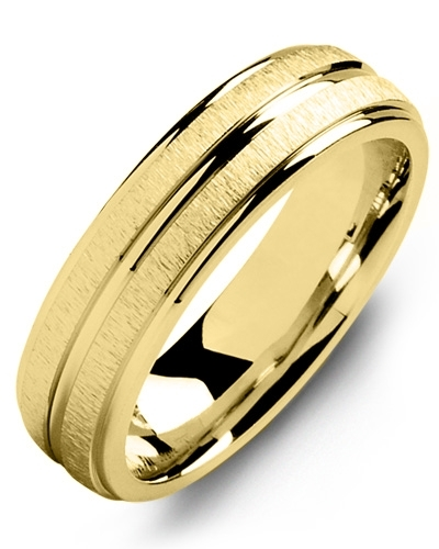 Men's & Women's Yellow Gold & Yellow Gold Wedding Band 10K 9mm