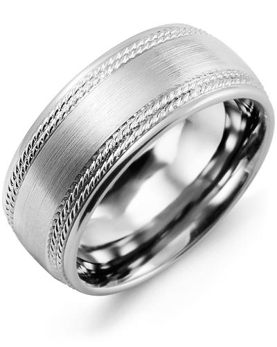 Men's & Women's White Gold Wedding Band 10K 7mm