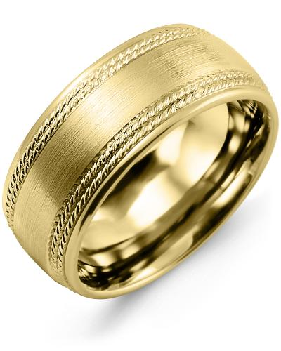 Men's & Women's Yellow Gold Wedding Band 10K 7mm